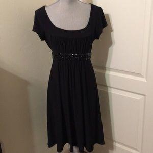 Little Black Dress with beaded Waist